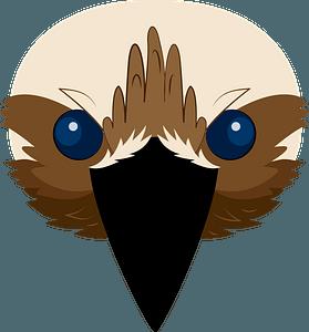 Kookaburra face clipart