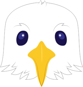 Seagull face clipart
