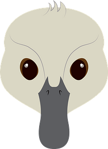 Ugly duckling face immagine clipart