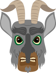 Krampus face immagine clipart