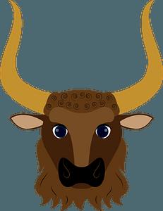 Minotaurs face clipart