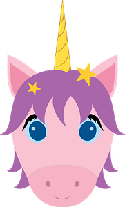 Unicorn face clipart
