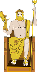 Statue of Zeus at Olympia clipart