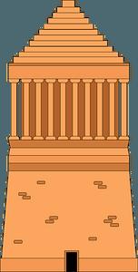 Mausoleum at Halicarnassus clipart