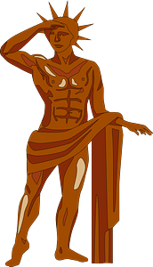 Colossus of Rhodes clipart