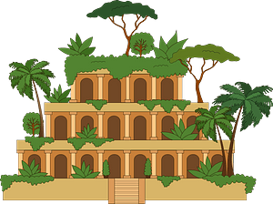 Hanging Gardens of Babylon clipart