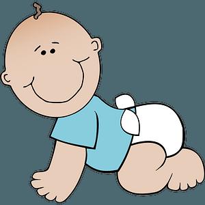 Baby boy crawling clipart