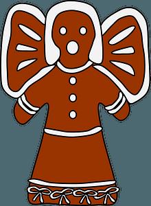 Gingerbread angel 剪贴画