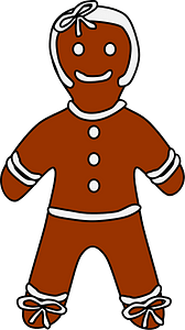 Gingerbread woman clipart