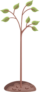 Planted tree 2 clipart