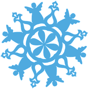 Angel Snowflake clipart