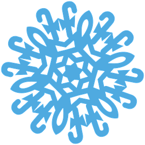 Candy Cane Snowflake clipart