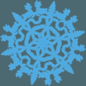 Deer Snowflake clipart