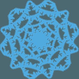 Flag garland Snowflake clipart