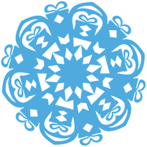 Gift Snowflake clipart