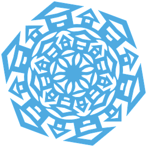 House Snowflake clipart