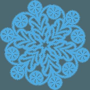 Lollipop Snowflake clipart