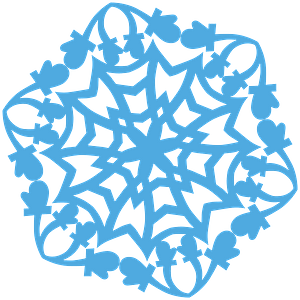 Mitten Snowflake clipart