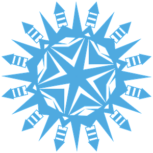Rocket Snowflake clipart