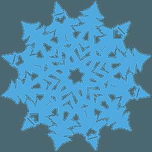 Santa Claus Snowflake clipart