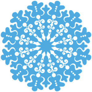 Christmas Gingerbread Snowflake clipart