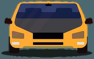 Yellow car clipart