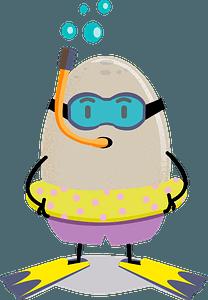 Egg diver clipart