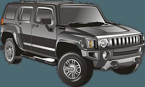 Black jeep clipart