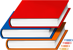 Books and paperclips clipart