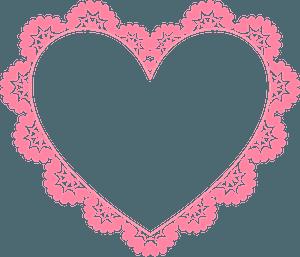 Ornamental heart frame clipart