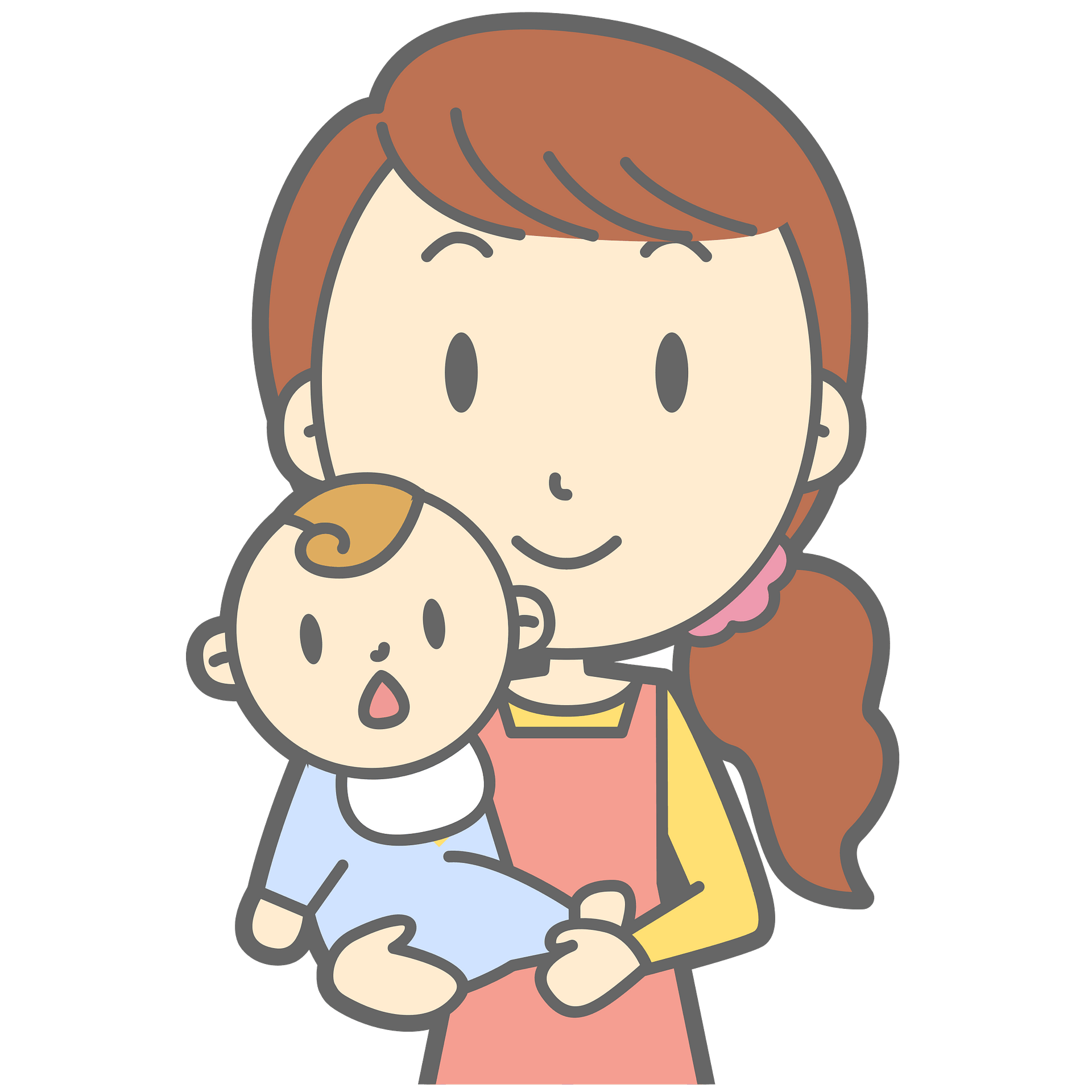 Mother With Her Baby Boy Clipart Free Download Transparent Png Creazilla