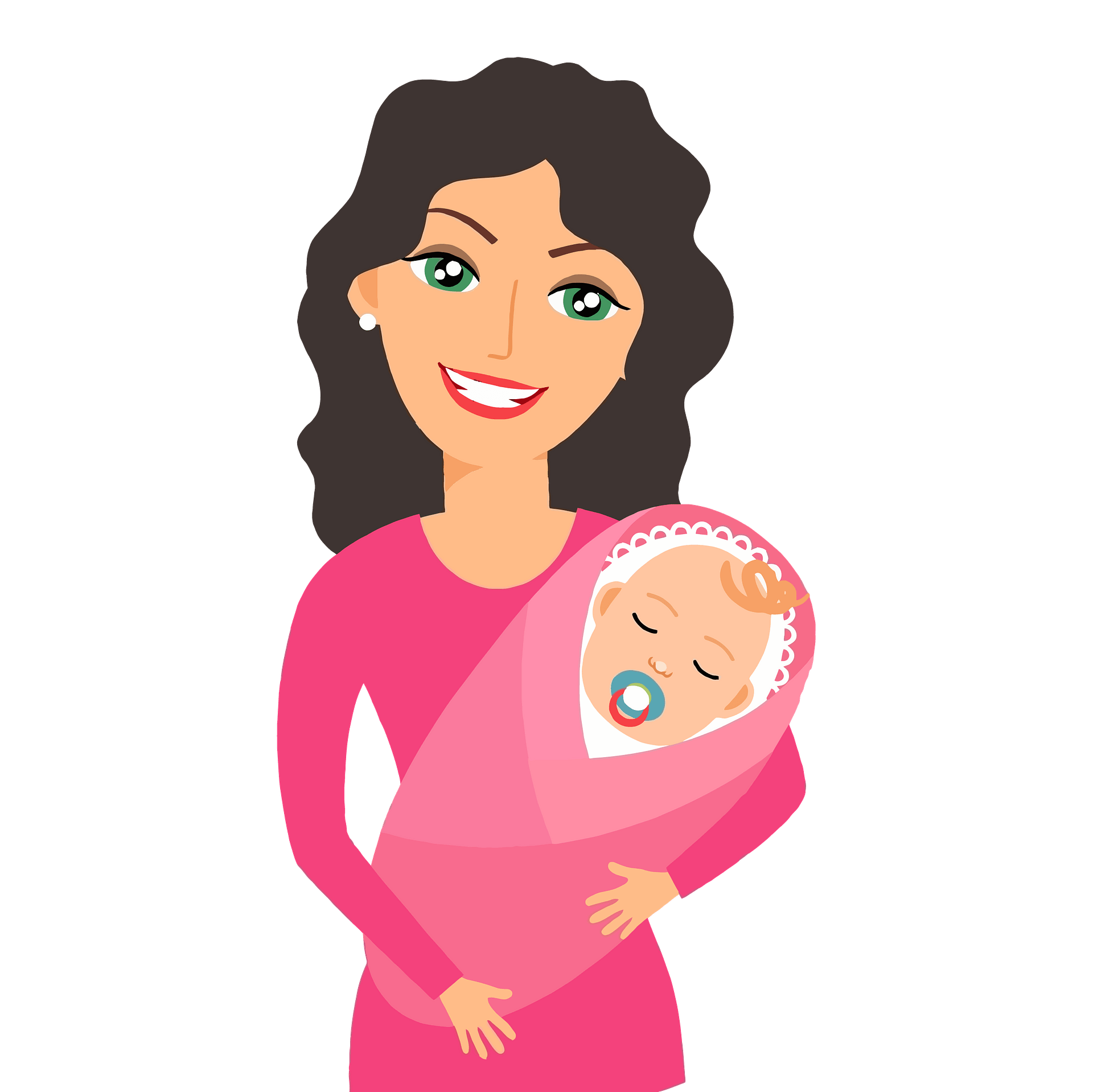 Mother Holding Baby Clipart Free Download Transparent Png Creazilla