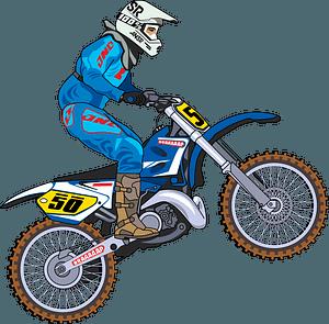 Motocross clipart