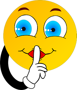 Smiley making silence sign clipart