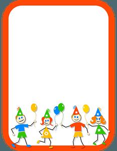 Kids Party Border clipart