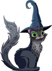 Black cat clipart