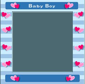 Baby boy border clipart