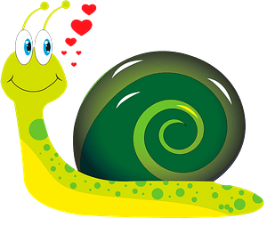 Snail in love clipart