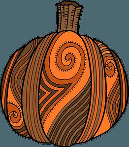 Stylized pumpkin clipart