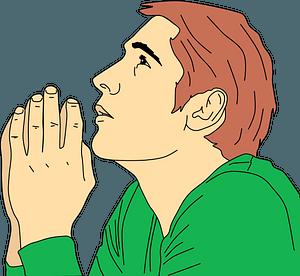 Praying man clipart
