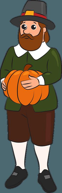 Pilgrim man clipart