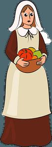 Pilgrim woman clipart