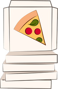 Pizza boxes clipart