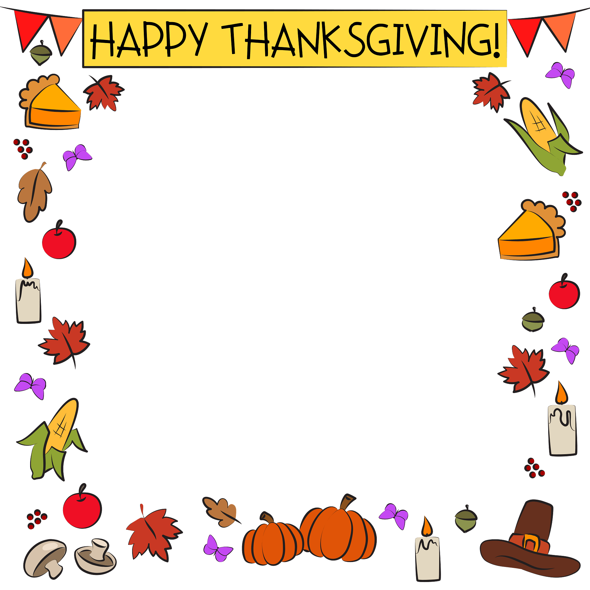 Thanksgiving Border Clipart Free Download Transparent Png Creazilla Preview sewing information for #hd581. thanksgiving border clipart free