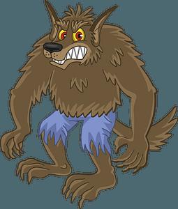 Werewolf clipart