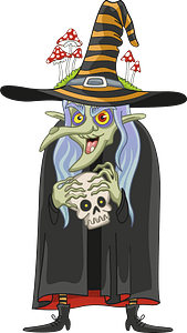 Old witch clipart