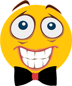 Smiley with bowtie clipart