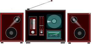 Stereo system clipart