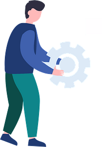 Man with gear clipart