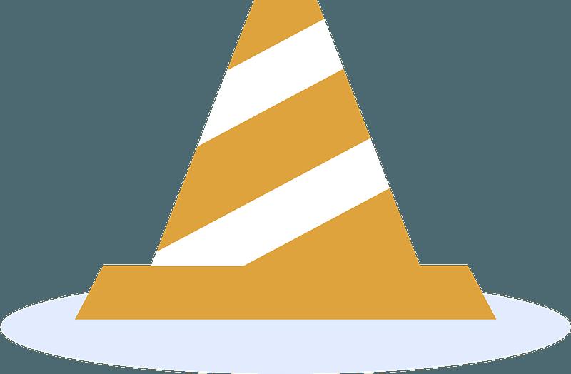 Traffic cone clipart
